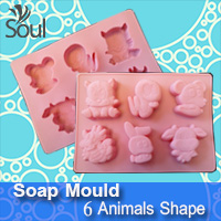 Soap Mould - 6 Animals Shape