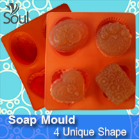 Soap Mould - 4 Unique Shape