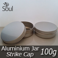 100g Aluminium Jar With Strike Cap - 5pcs
