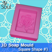 3D Soap Mould - Square Shape #1