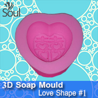 3D Soap Mould - Love Shape #1