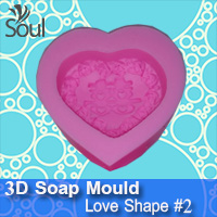 3D Soap Mould - Love Shape #2