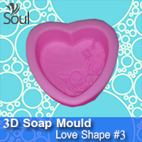 3D Soap Mould - Love Shape #3