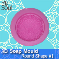 3D Soap Mould - Round Shape #1